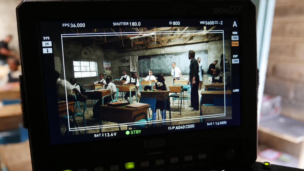 Filming the Kenyan school